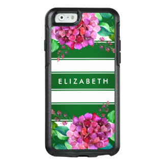 Elegant Floral Green Stripe iPhone 6/6s Case
