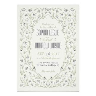 Elegant floral greenery garden rustic wedding card