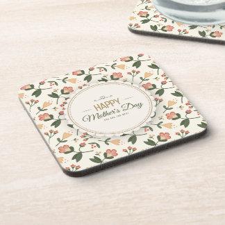 Elegant Floral Happy Mother's Day   Coaster