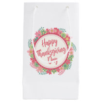 Elegant Floral Happy Thanksgiving | Gift Bag