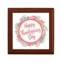 Elegant Floral Happy Thanksgiving | Gift Box