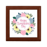 Elegant Floral Happy Thanksgiving | Gift Box