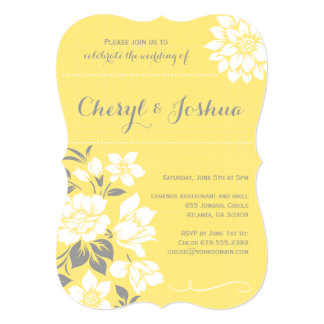 Elegant Floral II-Yellow Invitation