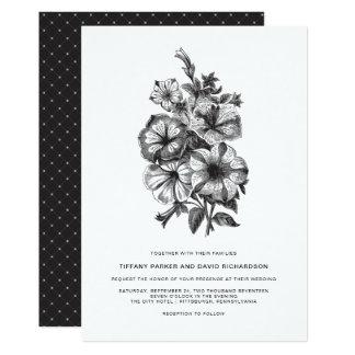 Elegant Floral Illustrated Wedding Card