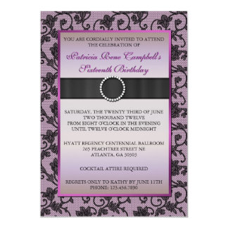 Elegant Floral Lace Invite [Pink]