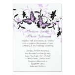 Elegant Floral Lavender Butterfly Wedding Invite