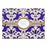 "Elegant Floral Leaf Damask Baroque Gold Swirl Card 5"" X 7"" Invitation Card"