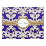 "Elegant Floral Leaf Damask Baroque Gold Swirl Card 4.25"" X 5.5"" Invitation Card"
