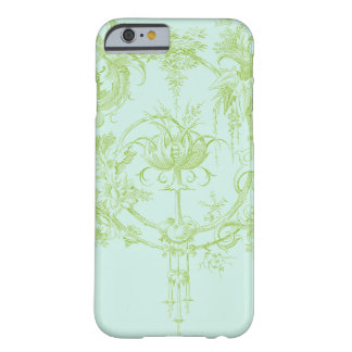 Elegant Floral, Leaf Green and Aqua Barely There iPhone 6 Case