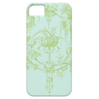 Elegant Floral, Leaf Green and Aqua iPhone SE/5/5s Case