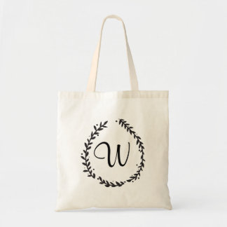 Elegant Floral Monogram Tote Bag