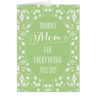 Elegant Floral Mothers Day Card
