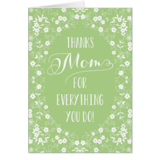 Elegant Floral Mothers Day Card Greeting Cards