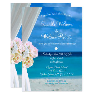 Beach Wedding Invitations Zazzle
