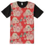 Elegant Floral Ornament, Spring Peach Garden All-Over-Print Shirt