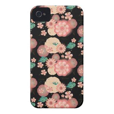 Elegant Floral Ornament Spring Peach Garden Boho Case-Mate iPhone 4 Case