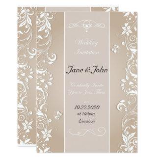 Elegant Floral Ornate Wedding Invitation
