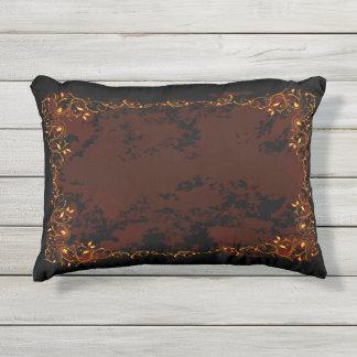 Elegant Floral Outdoor Accent Pillow