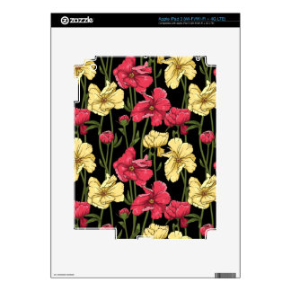 Elegant floral pattern 2 decal for iPad 3