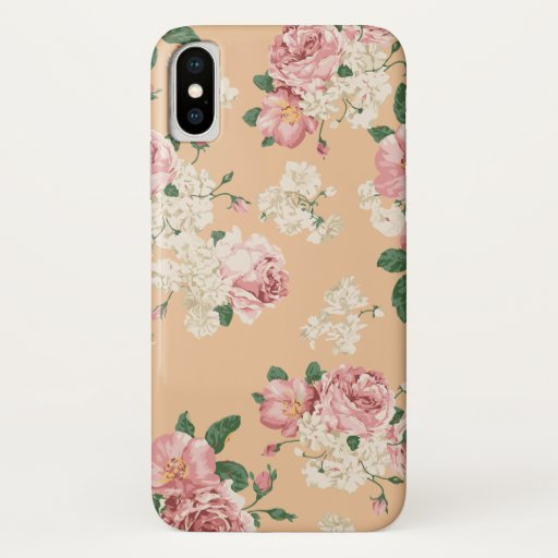 Elegant Floral Pattern iPhone XS Case