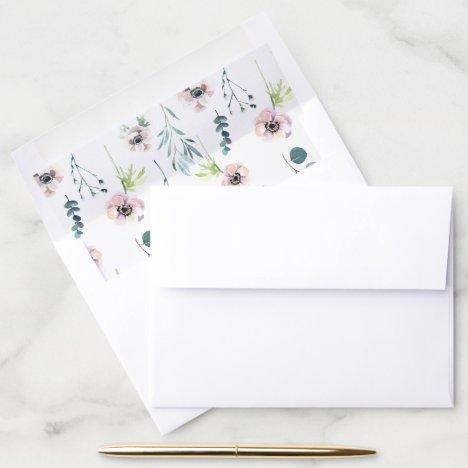 Elegant Floral Pattern Envelope Liner