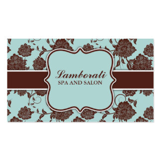 Elegant Floral Pattern Stylist Interior Decorator Double-Sided Standard Business Cards (Pack Of 100)