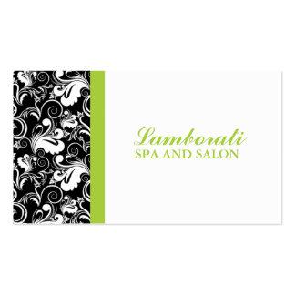 Elegant Floral Pattern Stylist Salon Hairdresser Business Card