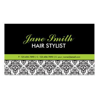 Elegant Floral Pattern Stylist Salon Hairdresser Business Cards
