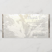 Elegant Floral Pattern Sympathy Thank you P card