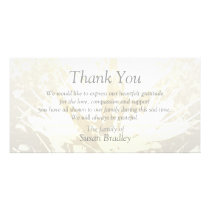 Elegant Floral Pattern Sympathy Thank you P card 2