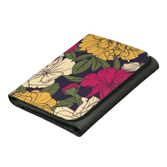 Elegant floral pattern wallets