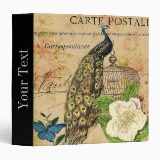 elegant floral peacock birdcage vintage paris binder