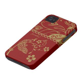 Elegant Floral Peacock Blackberry Bold 9700/9780 iPhone 4 Case-Mate Case