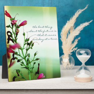 Elegant Floral Photography Plaque