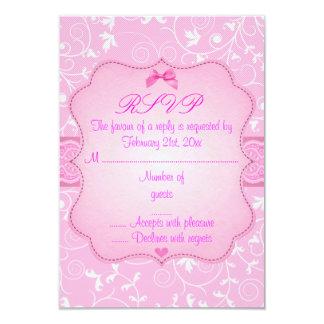Elegant Floral Pink Sweet16 RSVP Card