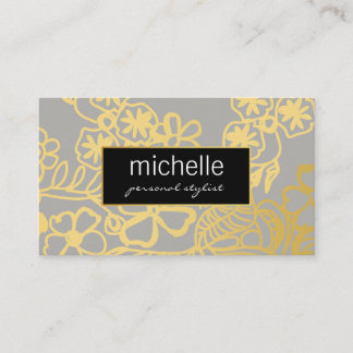 Elegant Floral Print Personal Stylist Business Card