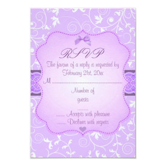 Elegant Floral Purple Sweet16 RSVP Card