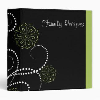 Elegant Floral Recipe Book 3 Ring Binder
