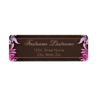 Elegant Floral Return Address Labels