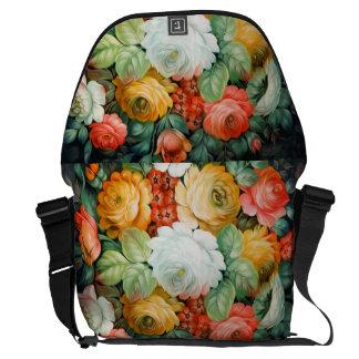 Elegant Floral Rickshaw Bag Messenger Bags