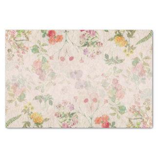 Elegant Floral Romantic Pink Wedding Wild Flower Tissue Paper