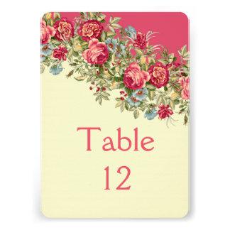 Elegant Floral Roses Bouquet Table card