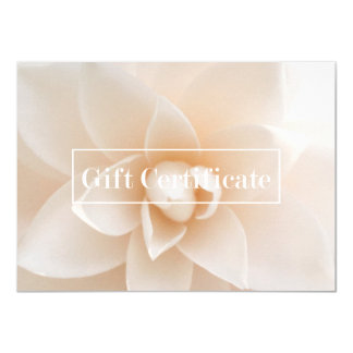 Elegant Floral Salon Spa Yoga Gift Certificate Card