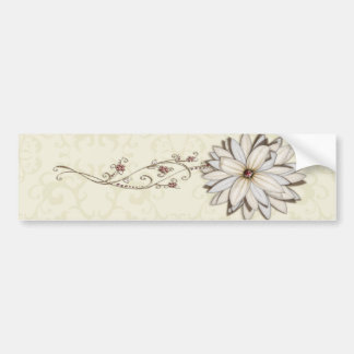 Elegant Floral Save the Date Design Bumper Sticker
