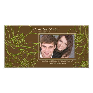 Elegant Floral Save the Date Photo Card