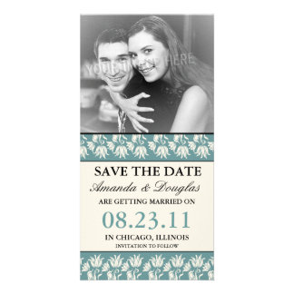 Elegant Floral Save the Date Photo Cards
