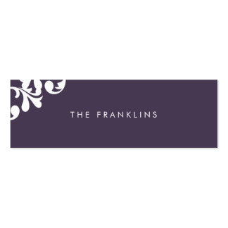 Elegant Floral Skinny Calling Card Double-Sided Mini Business Cards (Pack Of 20)