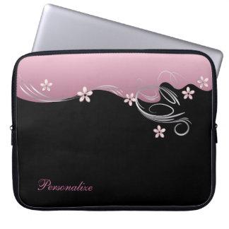 Elegant Floral Sleeve | Pink Laptop Sleeve