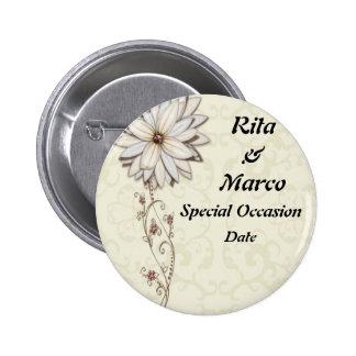Elegant Floral Special Occasion Design Pins