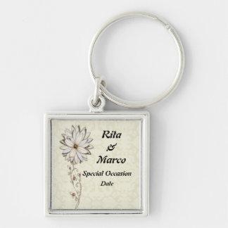 Elegant Floral Special Occasion Design Keychain